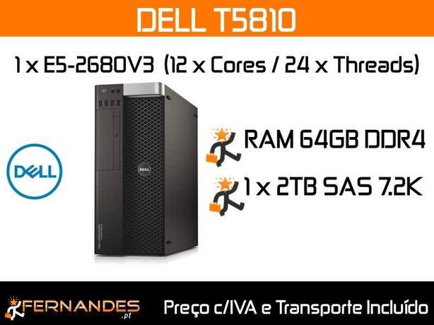 Servidor DELL T5810   1 x E5-2680V3   64GB RAM   2TB HDD   4GB Gráfica