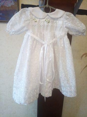 Продам комплект для крещения платье