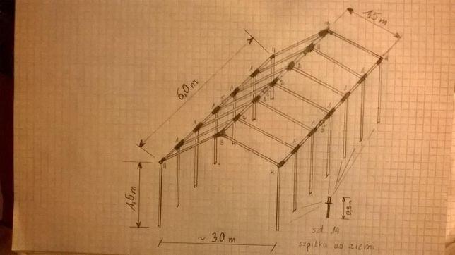 Namiot Foliowy 3x6m NOWY