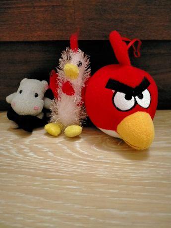 Продам мягкие игрушки петух, бегемот, angry birds, крыса.