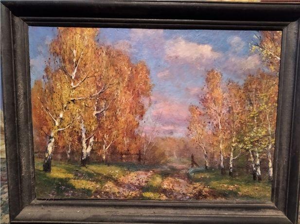 """Крючков В.Я. """"Осенний пейзаж"""". живопись, холст масло, оригинал 70x50см"""