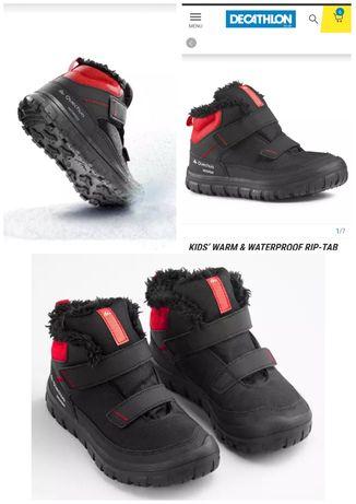 Тёплые ботинки Quechua влагостойкие мембранная обувь унисекс