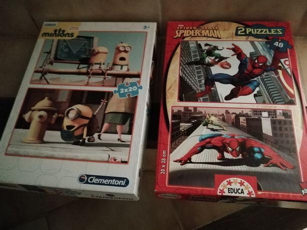 Puzzles dos minions, Homem Aranha e Sid Ciência