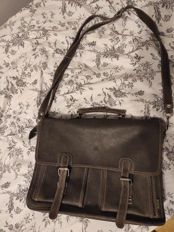 Skórzana torba typu listonoszka