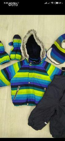 Зимний костюм, комплект комбинезон lenne, куртка, штаны, шапка