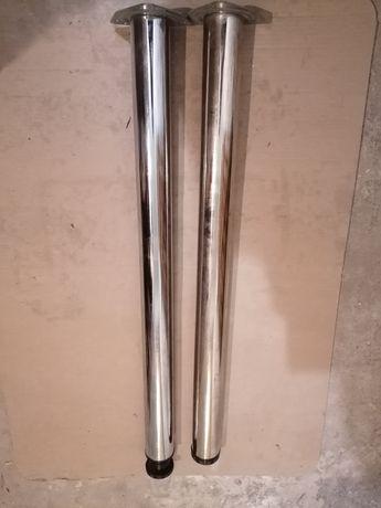 Nogi chromowane do stołu fi 60