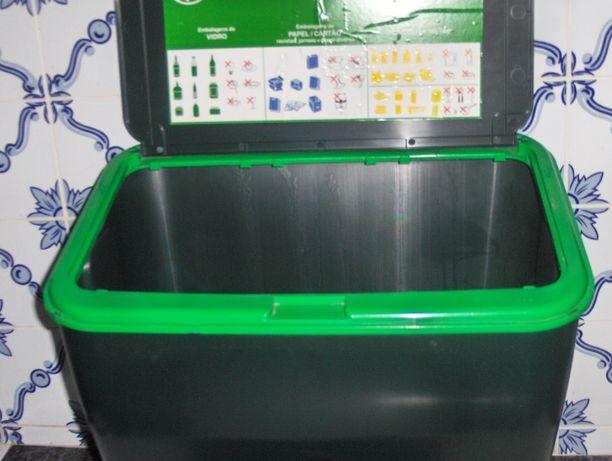 ECOPONTO doméstico NOVO - com 3 compartimentos para sacos de reciclar