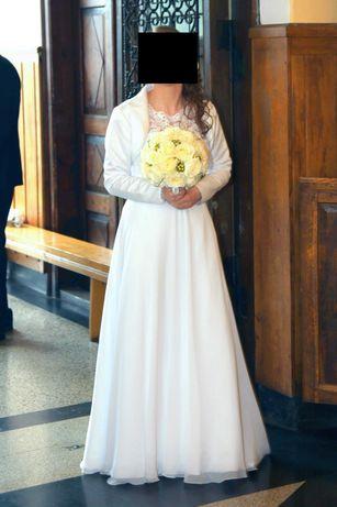 Suknia ślubna roz ok 40 szytana miarę