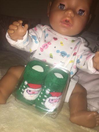 Buciki skarpetki dla lalki świąteczne
