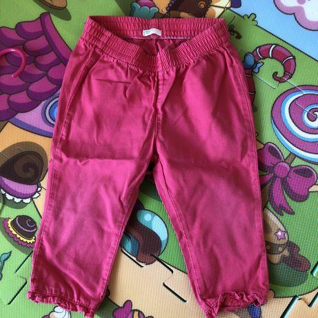 Różowe spodnie na gumkę Benetton Baby 74 cm