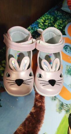 Перламутровые туфли - зайчики