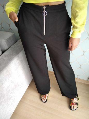PALAZZO szerokie spodnie wysoki stan mega XS S M