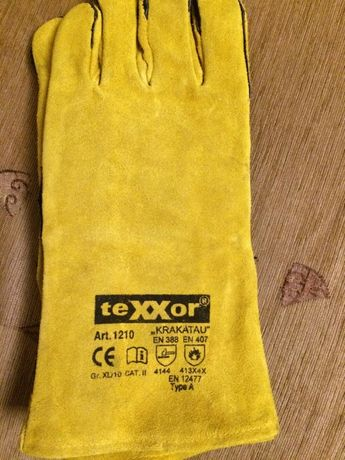 skórzane rękawice robocze texxor
