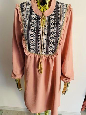 Sukienka we wzory AZTECKIE