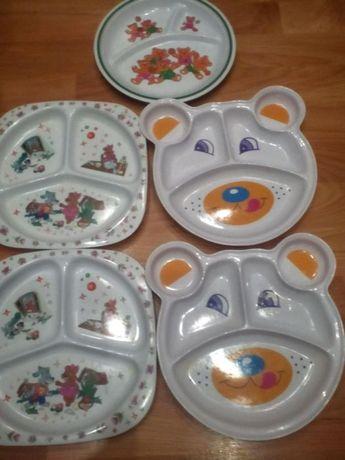 детские секционные тарелки