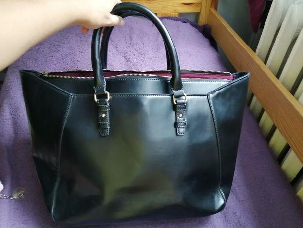 Duża czarna torebka shoper Zara