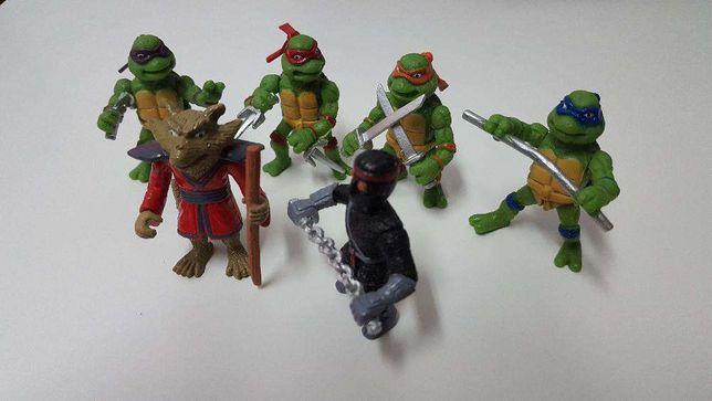 LU111 Conjunto 6 miniaturas Tartarugas Ninja 5cm bonecos
