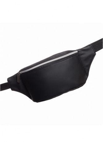 Сумка сумочка на пояс бананка Tirso MSSPm чорний екошкіра укр.виробник