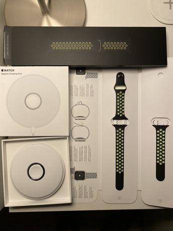 Apple Magnetic Charging Dock + pasek nike sport loop 40mm
