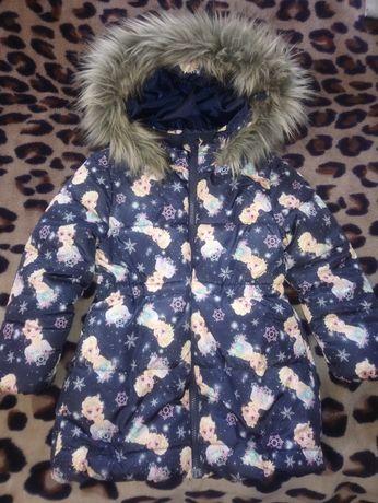 Холодное сердце ,куртка зимняя h&m 6-7 лет Frozen в новом состоянии
