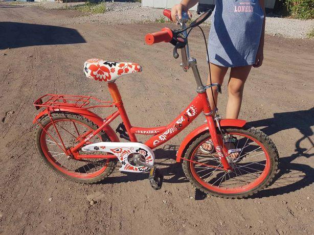 Велосипед для девочки D=18