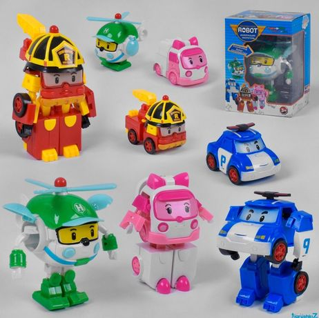 Робот-трансформер Поли и его команда и много другого