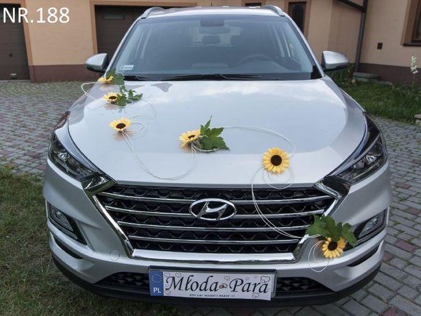 Piękna dekoracja/ozdoba na auto ze słoneczników