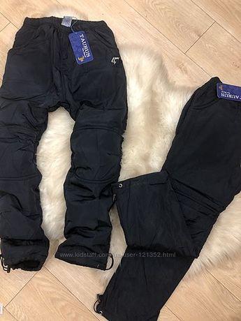 болоневые штаны на флисе 116-122-128-134- 140-14152-158-164см--см
