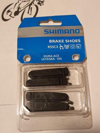 Klocki hamulcowe Shimano R55C3 szosowe komplet na dwa koła