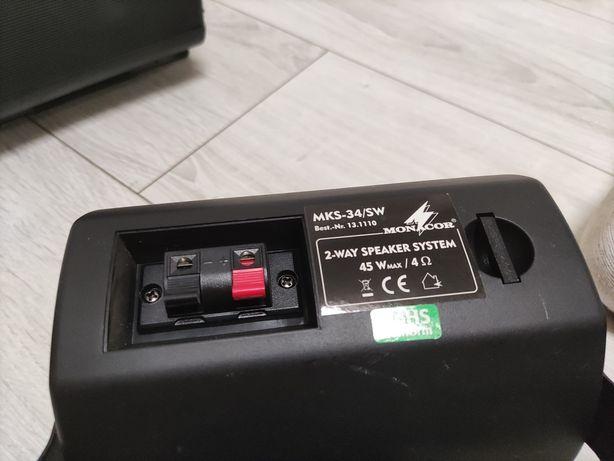 Głośniki naścienne monitory Monacor MKS-34/SW mks 34 sw czarne