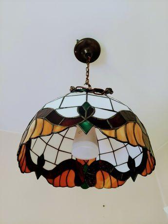 Lampa sufitowa witrażowa Tiffany