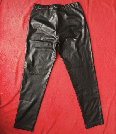 piękne skórzane spodnie