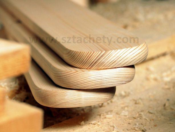 Sztachety drewniane dokładnie obrobione suche i z dostawą