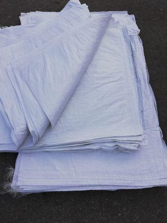 Worki na gruz PP, mocne białe, 55x80 cm