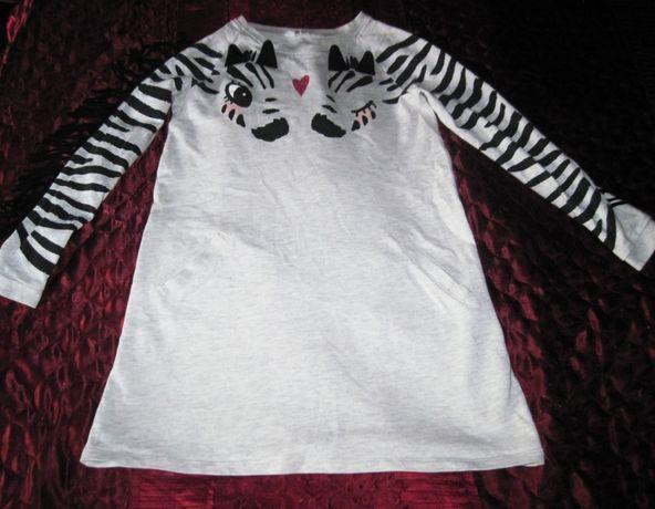 Платье зебра для девочки