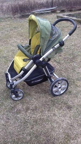 Wózek Xlander XQ zielony+nosidełko 0-13kg