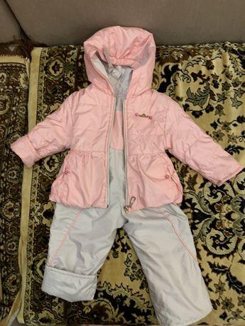 Костюм двойка/ полукомбинезон куртка, штаны 1-2 года