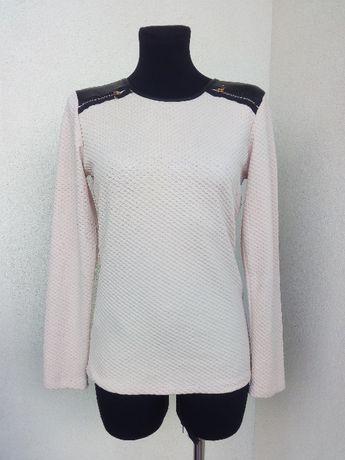 (11) Pudrowa bluzka z suwaczkami 40-42