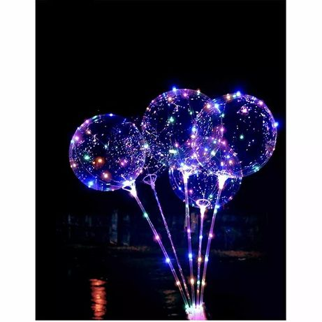 Balony przezroczyste LED 5sztuk