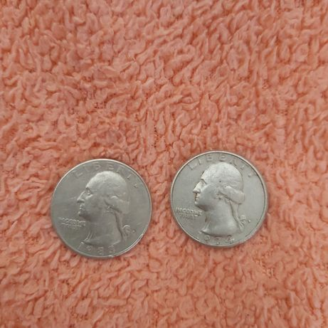 Quarter Dollar 1974 та 1983 р