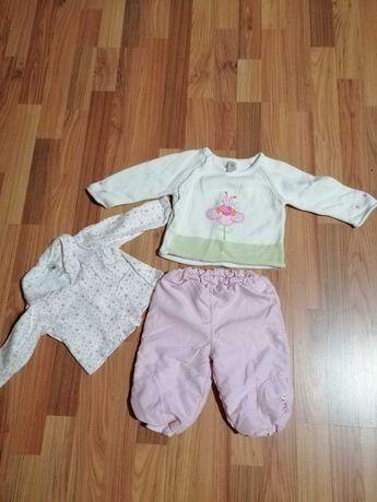 Komplet bluzeczka+sweterek+spodenki Baby Club r. 74