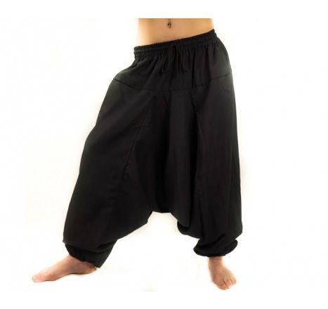 Czarne alladynki szarawary pumpy spodnie indyjskie