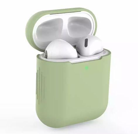 Etui silikonowe do AirPods 1/2 jasny zielony