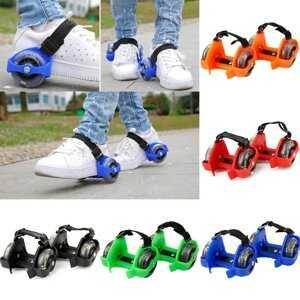 Детские ролики на пятку со светящимися колесами RS-0029, есть опт