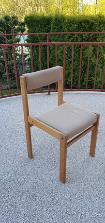 Krzesła drewniane tapicerowane bukowe 4 SZTUKI
