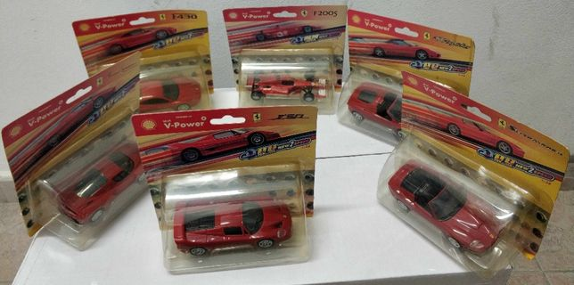 Kompletna kolekcja samochodów Shell Ferrari 6szt.
