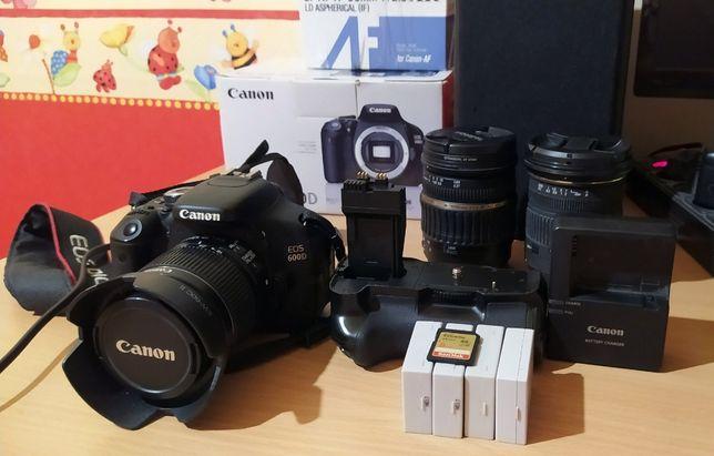 Canon 600d 18-55 IS II + бат.блок + 4 АКБ + UV-захисний фільтр