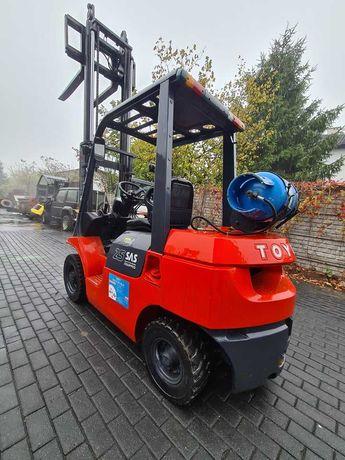 Wózek widłowy TOYOTA 7FG25 LPG przesuw wideł UDT