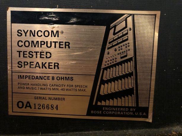 Bose syncom computer tested speaker para kolumn