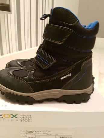 Buty zimowe Geox w rozmiarze 33
